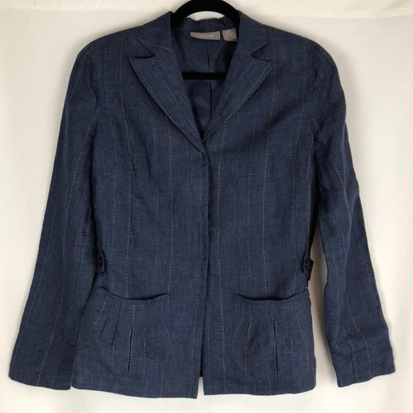 Kenar Casual Linen Jacket with Snap Closure